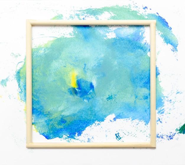 Marco acuarela arte mano pintura abstracta y fondo o papel tapiz