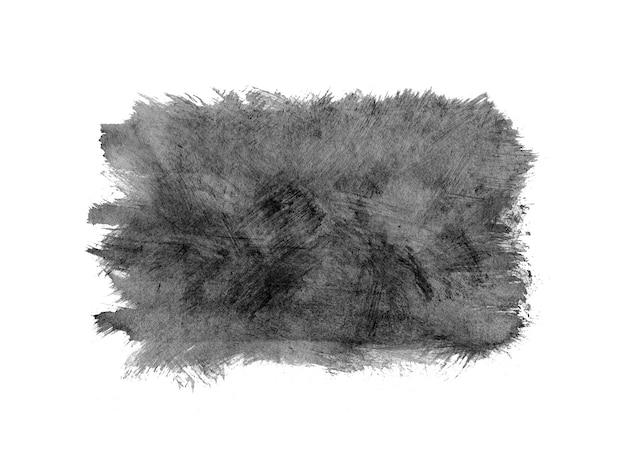 Marco de acuarela gris, gota negra aislada en blanco