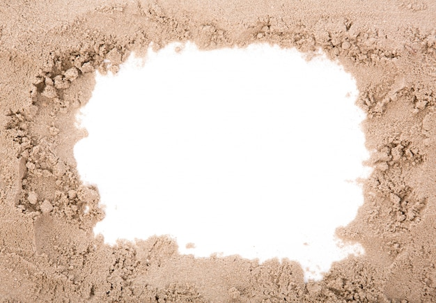 Marco de la arena con copia espacio