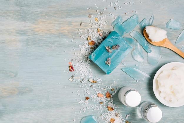 Marco de barra de jabón de aceite de coco vibrante