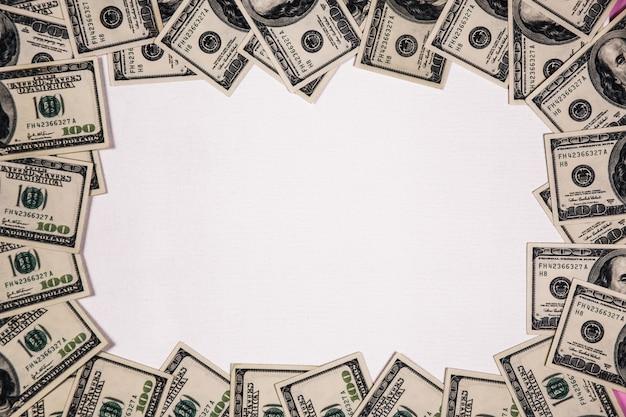 Marco de billetes de dólar