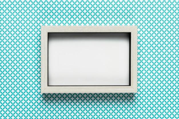 Marco blanco retro con fondo abstracto