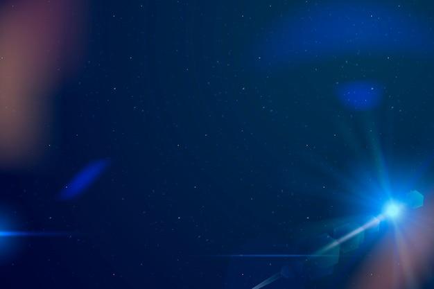 Marco de borde de destello de lente azul abstracto