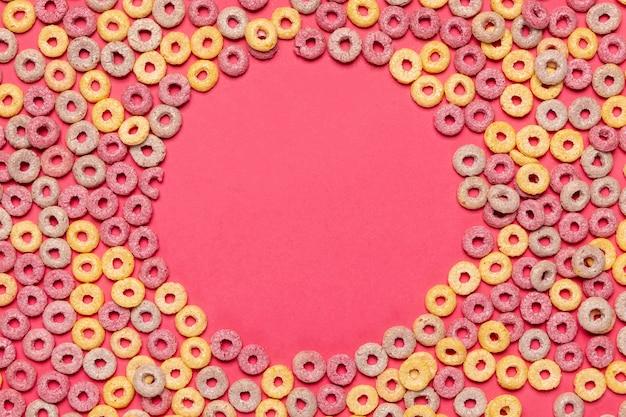 Marco de cereales con fondo de espacio de copia