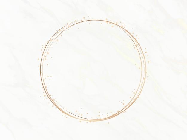 Marco de círculo elegante