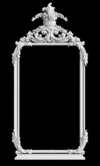 Marco clásico con decoración de adorno en pared negra