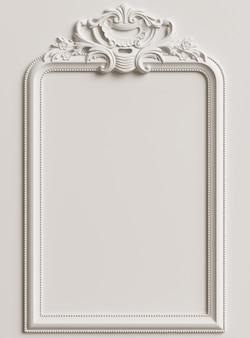 Marco clásico con decoración de adornos para interiores clásicos.
