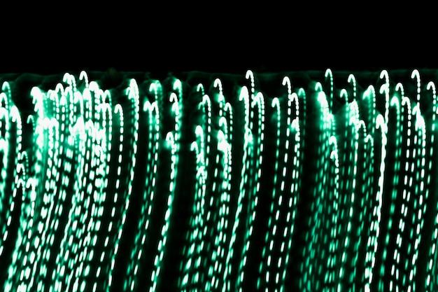 Marco completo de fondo de luz verde brillante