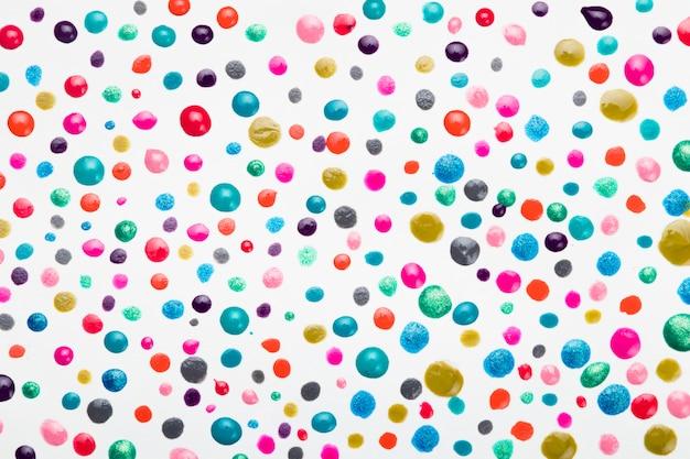 Marco completo de gota de esmalte de colores colorido