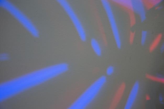 Marco completo de hoja de monstera con luz azul.