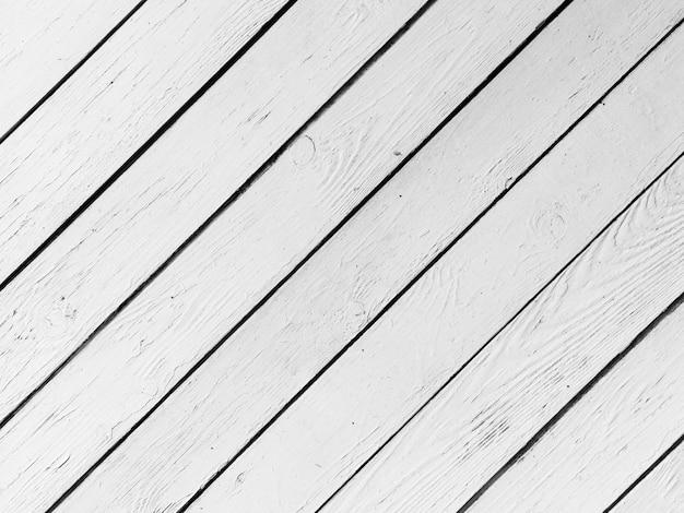 Marco completo de tablón de madera blanco pintado