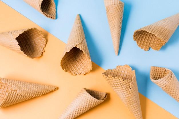 Marco de conos de helado