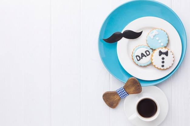 Marco de cookie sobre fondo blanco.