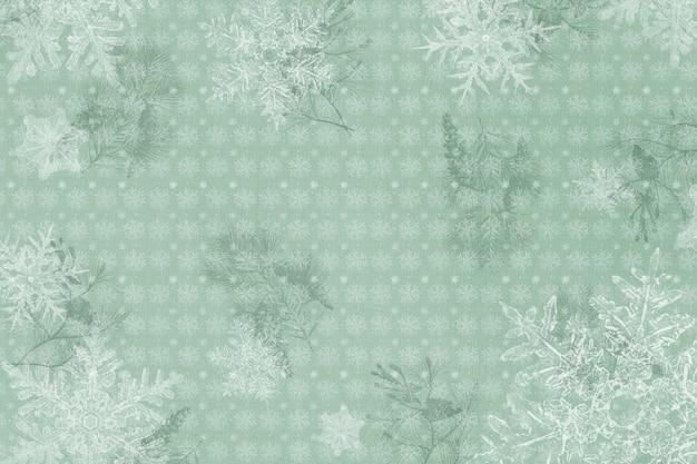 Marco de copo de nieve de saludos de temporada, remezcla de fotografía de wilson bentley