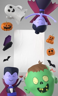 Marco de decoraciones de halloween