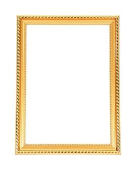 Marco dorado, aislado en blanco