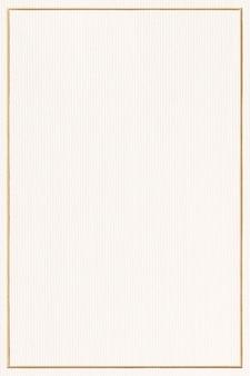 Marco dorado rectangular sobre papel