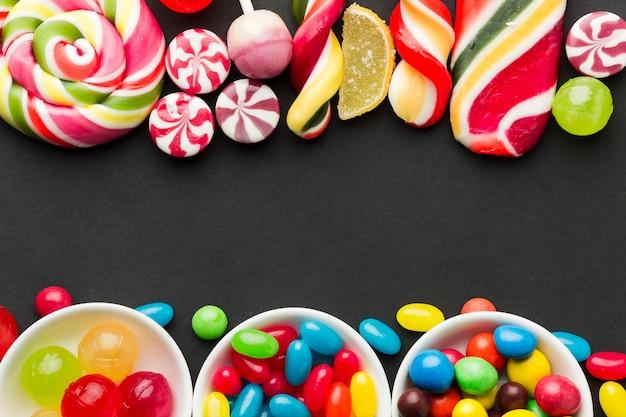 Marco de dulces con espacio de copia