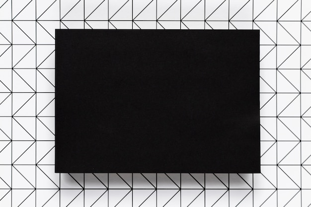 Marco elegante negro con fondo de patrón