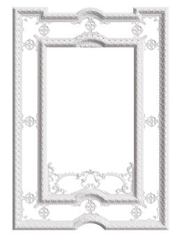 Marco de espejo clásico aislado. representación 3d