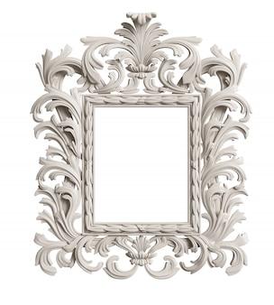 Marco de espejo clásico. representación 3d