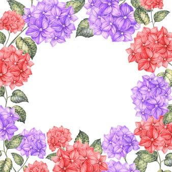 Marco de flores de colores.