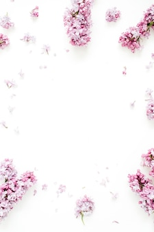 Marco de flores lilas