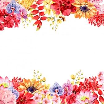 Marco de flores tailandesas