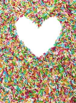 Marco en forma de corazón con espacio vacío para el texto. día de san valentín .