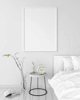 Marco de fotos en blanco para maqueta en pared