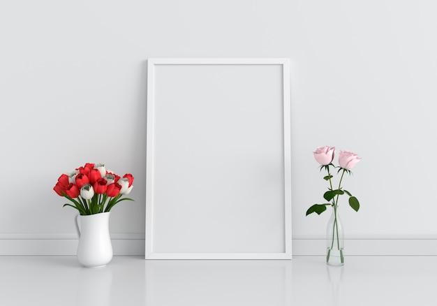 Marco de fotos en blanco para maqueta
