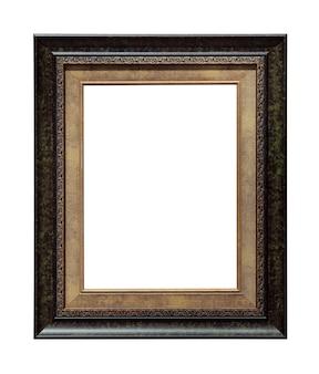 Marco de fotos de imagen retro aislado sobre fondo blanco.