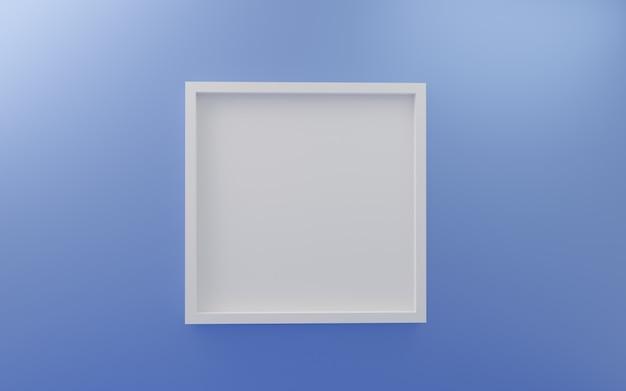 Marco de fotos de pared vacío con marco de fotos blanco
