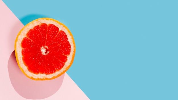 Marco de fruta deliciosa vista superior