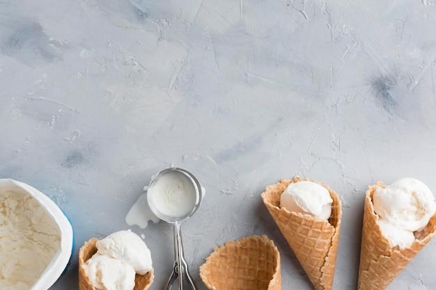 Marco de helado plano