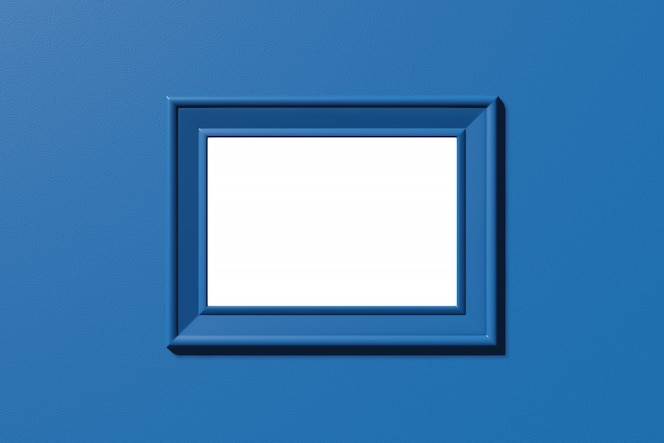 Marco horizontal plantilla para imagen, foto, texto. renderizado 3d