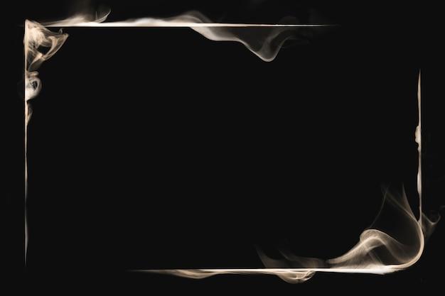 Marco de humo con textura de fondo, diseño abstracto negro