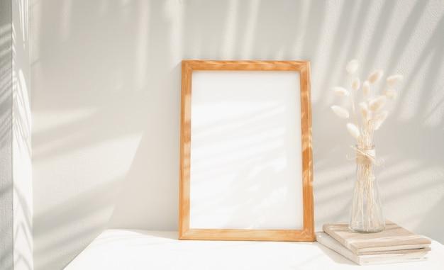 Marco de imagen de maqueta en blanco