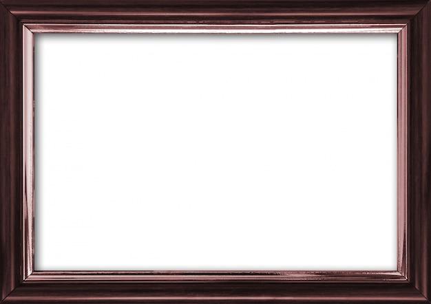 Marco de imagen vacío con un lugar libre dentro, aislado en blanco