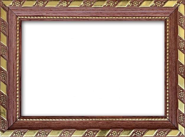 Marco de imagen vacío con un lugar libre en el interior, aislado en blanco