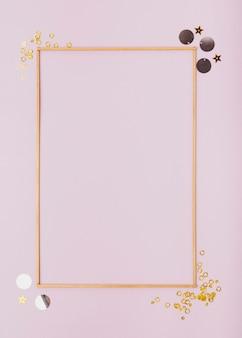 Marco minimalista plano con espacio de copia
