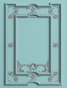 Marco de moldura clásico con decoración de adornos