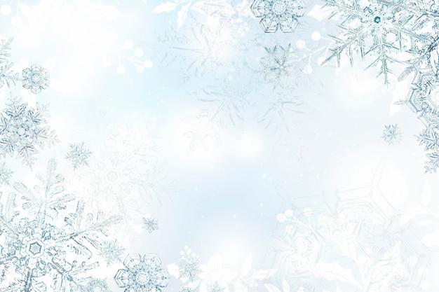 Marco navideño de copo de nieve de saludos de temporada, remezcla de fotografía de wilson bentley