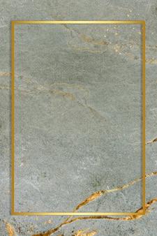 Marco de oro sobre fondo de mármol