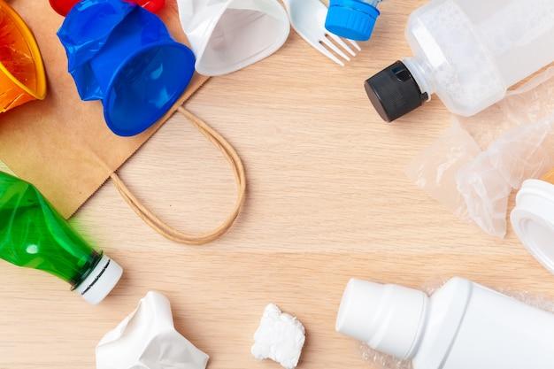 Marco de paquetes de plástico