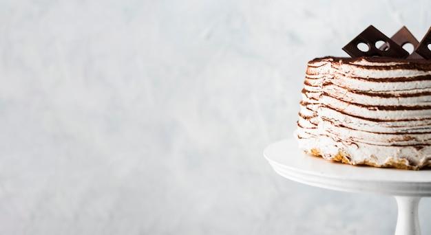 Marco de pastel con espacio de copia