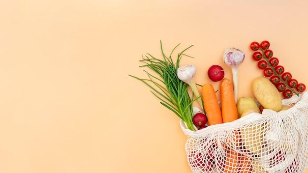Marco plano de verduras