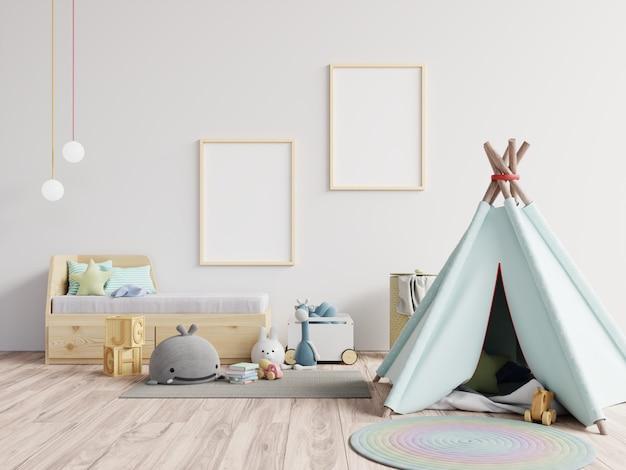 Marco de póster en habitación infantil, habitación infantil, guardería
