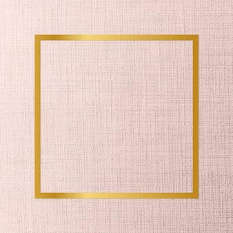 Marco de tela con textura de telón de fondo