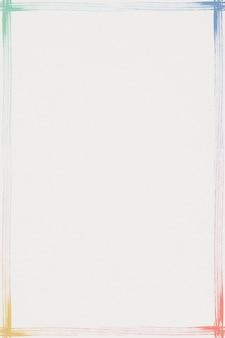 Marco de trazo de pincel colorido rectángulo